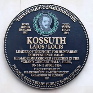Lajos Kussoth plaque